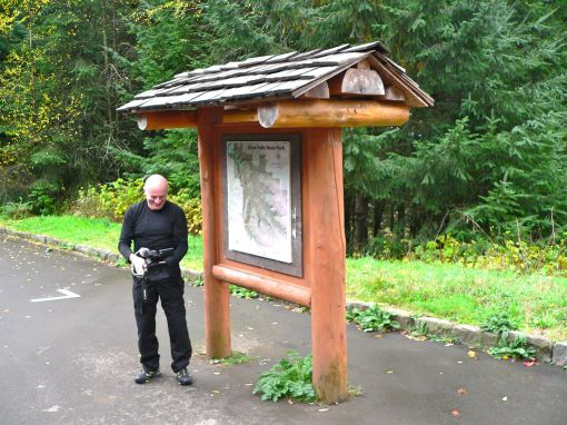 Cameraman Marc at the Entrance to Silver Falls