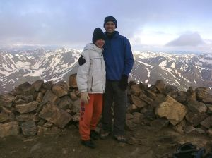 Achievement! (Atop Mount Elbert, elev. 14,333')