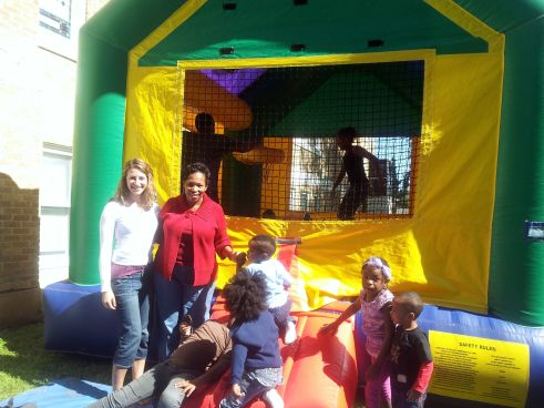 Just Before I Jumped in the Moon Bounce - At the Church Picnic Today