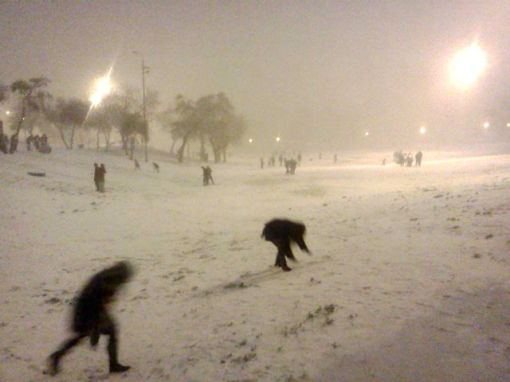 Late Night Snow Fights in Gan Sacher, Jerusalem