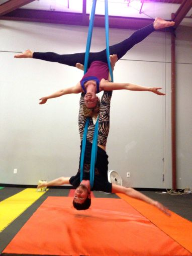 Partner Aerials on Silks