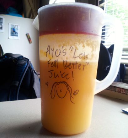 A Pitcher of Fresh-Squeezed OJ (I Have Awesome Friends)