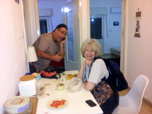 My Mom and David at the Apartment - With Yummy Food Surprises!