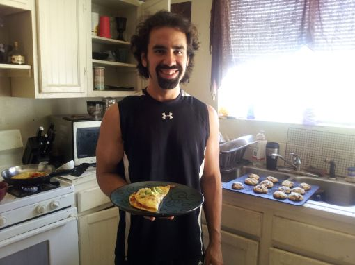 Homemade Gourmet Omeletes and Birthday Chocolate Chip Cookies From Scratch - No One Knows a Kitchen Like Daniel